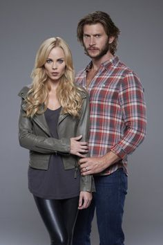 Bitten - Laura Vandervoort and Greyston Holt as Elena & Clay (Werewolves)