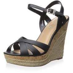 Charles By Charles David Women's Astro Wedge Sandal ($18) ❤ liked on Polyvore featuring shoes, sandals, charles by charles david sandals, charles by charles david shoes, wedge shoes, wedge heel sandals and wedge sole shoes