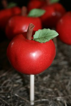 Apple Cake Pops ~ Snow White party