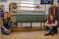 Evelyne Gélinas and Marie-Claude Trempe at their Weaving Studio in Québec - Rien ne se perd, tout se crée