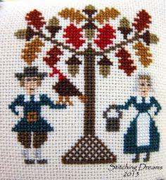 Friends and Stitching Stitch 2, Cross Stitch Patterns, Embroidery, Friends, Fall, Crochet, Dreams, Holidays, Autumn