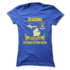 Reading It's where my story begin T-Shirts, Hoodies. CHECK PRICE ==► Funny Tee Shirts