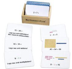 Einfach, schnell und kostenlos Anleitung zur Arbeitskartei mit den Montessori-Rechenstäbchen im Zahlenraum bis 100 als PDF herunterladen.