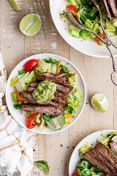Easy Keto Beef Fajita Salad Story - Sweet Cs Designs
