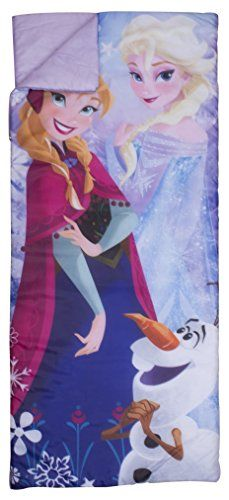 Disney Frozen Crystal Sleeping Bag @ niftywarehouse.com #NiftyWarehouse #Frozen #FrozenMovie #Animated #Movies #Kids