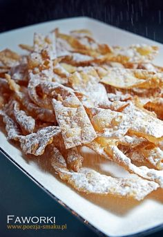 "Faworki, chruściki, chrust / ""Brushwood"" cakes (recipe in Polish)"
