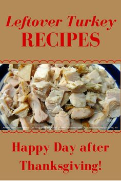 Recipes for leftover turkey
