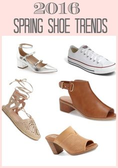 Well, we just had a huge snow storm and of course that makes me dream of spring! So I thought I would share some 2016 Spring Shoe Trends.
