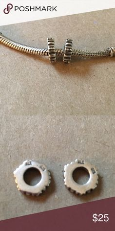 Pandora spacers set or 2 Pandora spacers set or 2. Spacers only. Pandora Jewelry Bracelets
