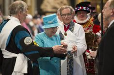 Queen Elizabeth II attends the Royal Maundy Day Service at Westminster Abbey on April 21, 2011 in London, England.