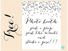 FREE Silver Photobooth Sign | Printabell • Express
