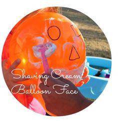 Shaving Cream Balloon Face