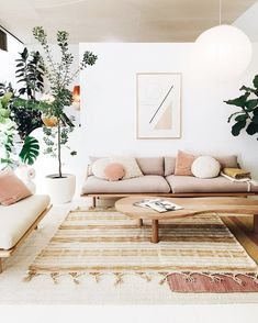 modern living room with minimal geometric art and neutral color palatte. / sfgirlbybay