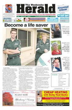 Latest edition out now. Who will you share the   Weekender Herald with? http://adelaidehills.realviewtechnologies.com/