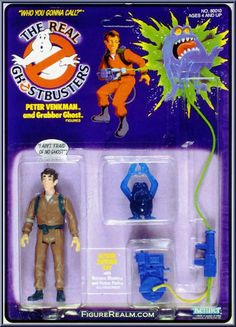 "The Peter Venkman action figure from Kenner's line of toys based on ""The Real Ghostbusters"" cartoon"
