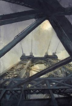 Antonio Masi watercolor of the Williamsburg Bridge