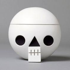 """""""Kranium"""" is wooden skull with secret compartment. From Swedish Acne JR."""