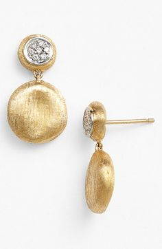Marco Bicego 'Piccolo - Jaipur' Diamond Drop Earrings available at #Nordstrom