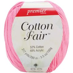 Cotton Fair Solid YarnBaby Pink * See this great product.Note:It is affiliate link to Amazon. #KnittingCrochet