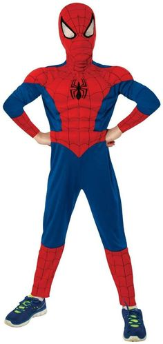 Ultimate Spider-Man Muscle Chest Kids Costume | Small (4-6) Case Pack 3
