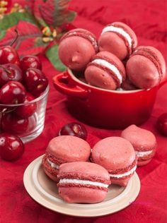 Cherry-Fig Macarons