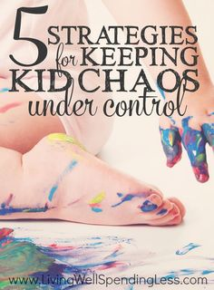 Do you ever feel like your home has been completely overrun by your kids' stuff? Keeping kid clutter at bay is an ongoing challenge, but there is hope.  Don't miss these 5 strategies for keeping kid chaos under control!