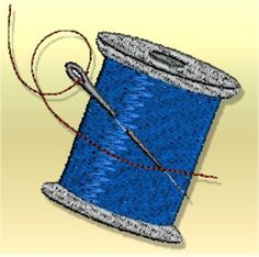 """This free embroidery design is a """"Spool of Thread"""". Download it today."""