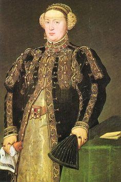1552 Catherine of Austria, Queen of Portugal by Antonio Mor