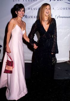Courteney Cox & Jennifer Aniston at the 8th Annual Fire and Ice Ball in 1997