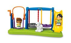 Fisher-Price Little People Jump & Play Swing Set Fisher-Price http://www.amazon.com/dp/B00SO7HLL2/ref=cm_sw_r_pi_dp_GxE5vb04BKFX7