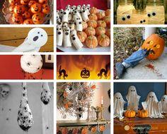 Puisque maintenant vous savez customiser une citrouille d'Halloween, nous allons voir pour ce mercredi comment vous pourriez décorer votre maison. Décoration Table Halloween, Diy Halloween, Samhain, Activities, Inspiration, Fall, Google, Pumpkin Arrangements, Bricolage