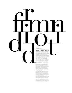 I like the connectedness of the serifs in this design using Didot.