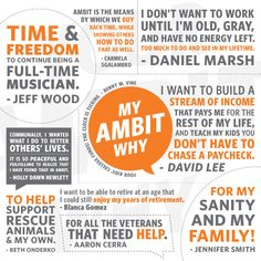 "I have several Ambit ""WHYs"". What's your Ambit ""WHY""?? Read other people's Ambit WHY ✯ ♥ ✯ ♥ see also: http://snow.myAmbit.com ✯ ♥ ✯ ♥ #Ambit #Energy #AmbitEnergy #EnergyGoldRush #workfromhome #workathome #deregulation"