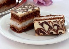 Výborný kokosovo-čokoládový zákusok - My site Eclairs, Sweet Desserts, Sweet Recipes, Czech Recipes, Ethnic Recipes, Baking Recipes, Dessert Recipes, Sweet Cakes, Amazing Cakes