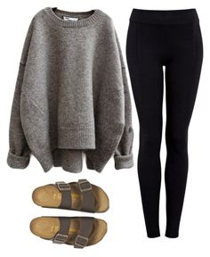 """no school today :))"" by preppy-4-life ❤ liked on Polyvore featuring Helmut by Helmut Lang and Birkenstock"