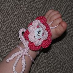 Crochet Baby Barefoot Sandals by Nogginsandnapes on Etsy, $14.00