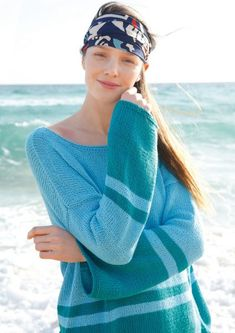OVERSIZEDBesonders leger: Ganz gerade geschnitten sind Rücken- und Vorderteile und auch die weiten Ärmel des glatt rechts gestrickten Pullovers. Fa... Pullover, Fashion, Stockinette, Simple Knitting Projects, Knitting And Crocheting, Summer, Moda, Fasion, Sweater