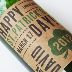 St Patrick's Day beer labels with personalized by nancynikkodesign, $15.00