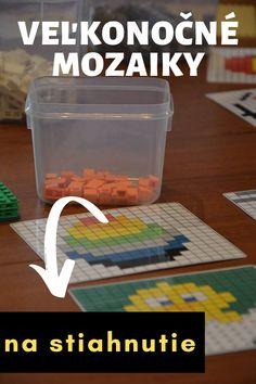 Stiahnite si predlohy na veľkonočné mozaiky z Lega a pripravte deťom skvelú zábavu na veľkonočné prázdniny #pre deti #velka noc #aktivity pre deti #velkonocne hry #velkonocne mozaiky #velkonocne prazdniny #velkonocne lego Lego, Legos