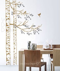 Wall Decals Wall Sticker Art - birch tree wall decal sur Etsy, $70.17 CAD