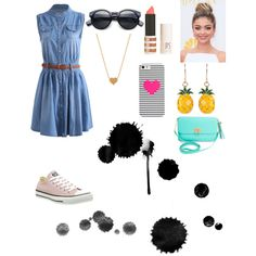 Everyday look by veronikimiki on Polyvore featuring polyvore, мода, style, Converse, BCBGMAXAZRIA, BaubleBar, Minnie Grace and Topshop