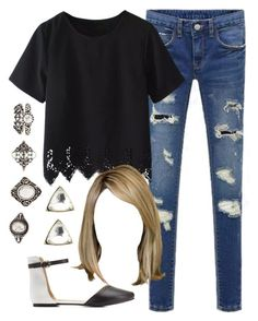 """""""Edgy Hanna Marin inspired outfit"""" by liarsstyle ❤ liked on Polyvore featuring Charlotte Russe, school, college and mid"""