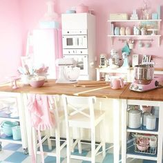 Pink pastel Kitchen