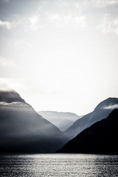 mountains and fjord