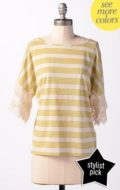 Honeydew Top  @Marci Cloughley Basics #SpringStyle.  Another good option for family pictures