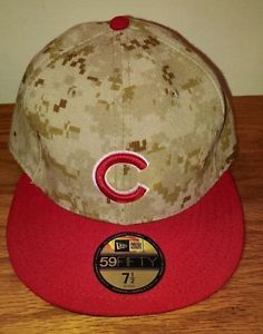 New Era 59Fifty Chicago Cubs Desert Camo Hat Cap Size 7 1 2 Fitted NWT  Baseball acf596a69769