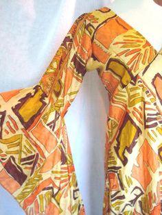 Gold Tunic Vintage 70 Boho Ethnic Mini Silk Tunic by judygovintage, $36.00