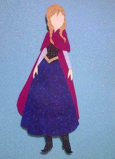 Princess Anna Winter Dress Paper Silhouette by TheArtDressBoutique, $8.00