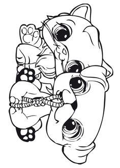 Desenhos para pintar Littlest pet shop 21