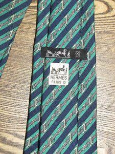 Authentic Vintage Hermes Paris Mens Equestrian Silk Necktie Tie - For Sale on Ebay